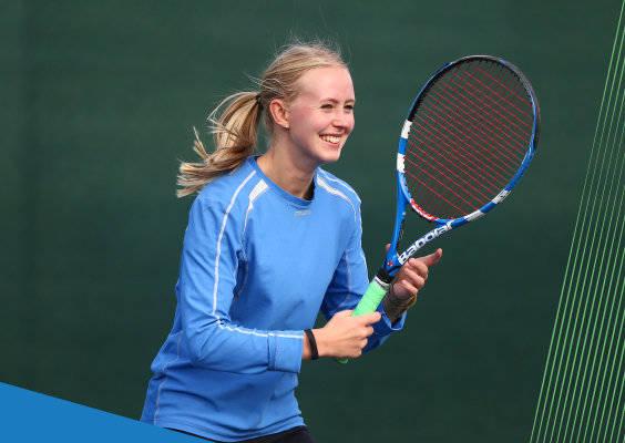 Women playing tennis